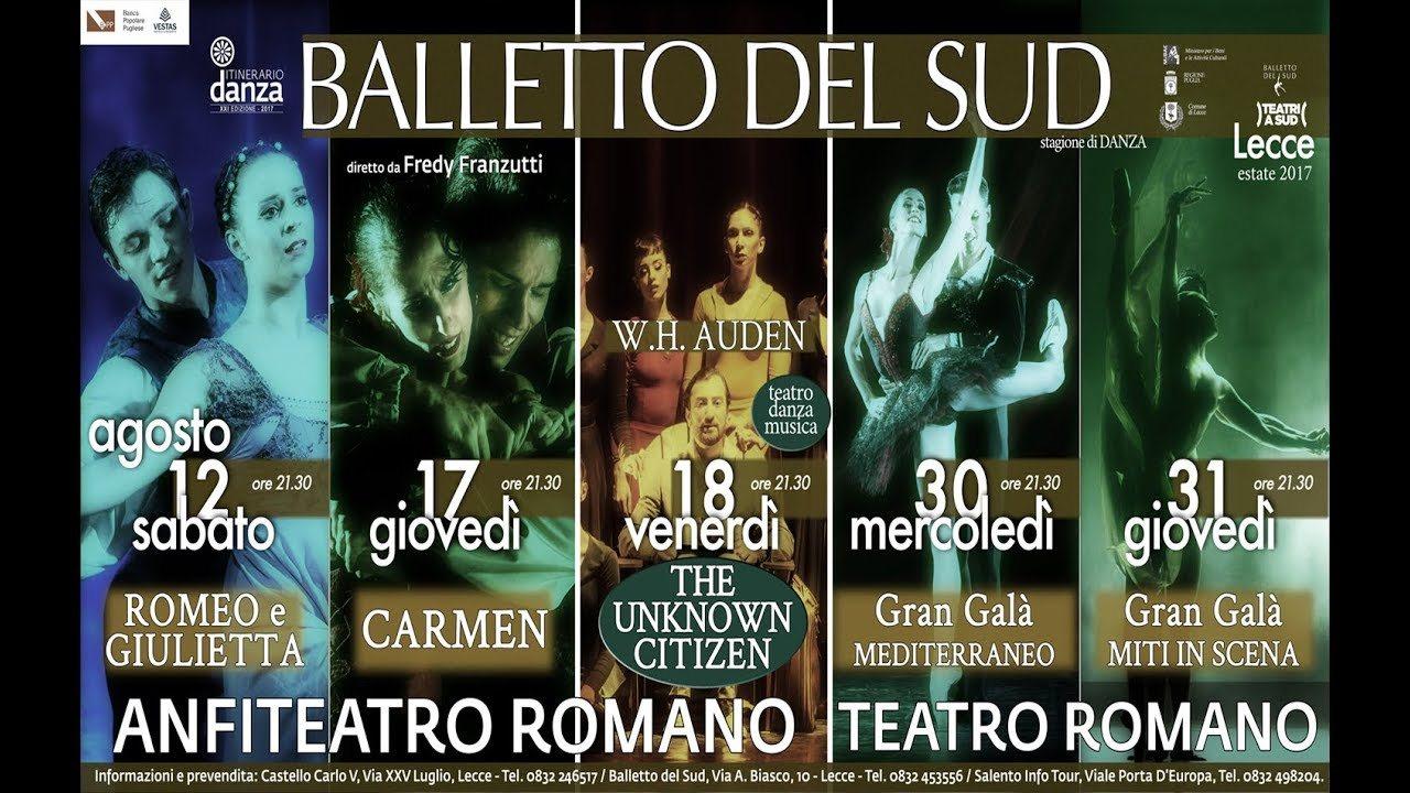 Il Balletto del Sud presenta la stagione estiva di danza